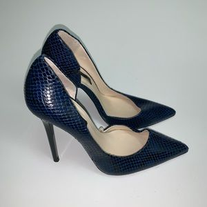Zara Leather Heels Size: EU 38 US 7 1/2 )